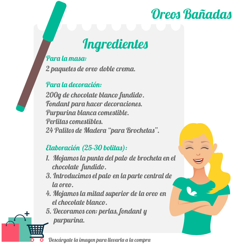 Ingredientes oreos bañadas